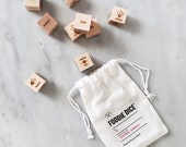 Foodie Dice® Seasonal Dinners Pouch // Laser engraved dice for cooking ideas / Foodie gift, cooking gift, couples gift, for him or her