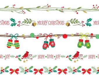 Christmas Boarder.Christmas Border Etsy