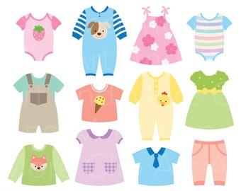 13e5374d3 Baby clothes clipart