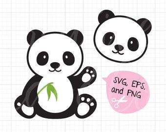 panda svg etsy