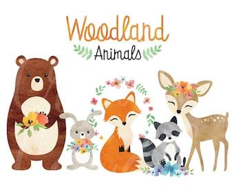 Woodland Animals Etsy
