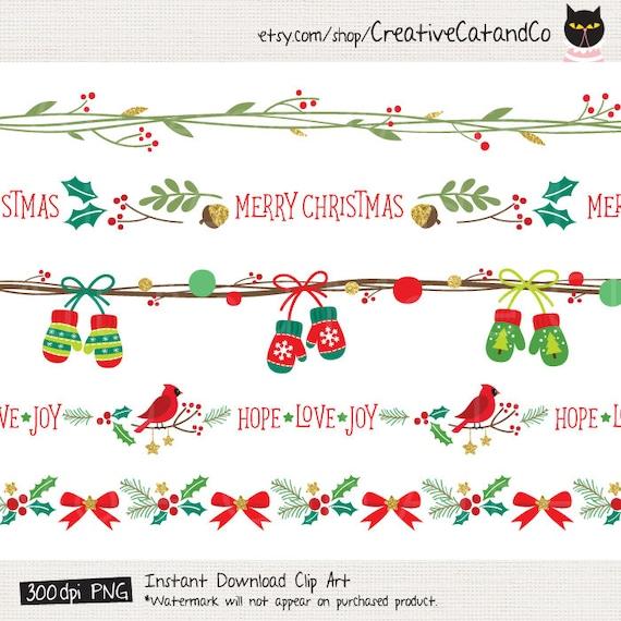 Vacanze Di Natale Natale Clipart Cornice Clipart Natale Senza Etsy