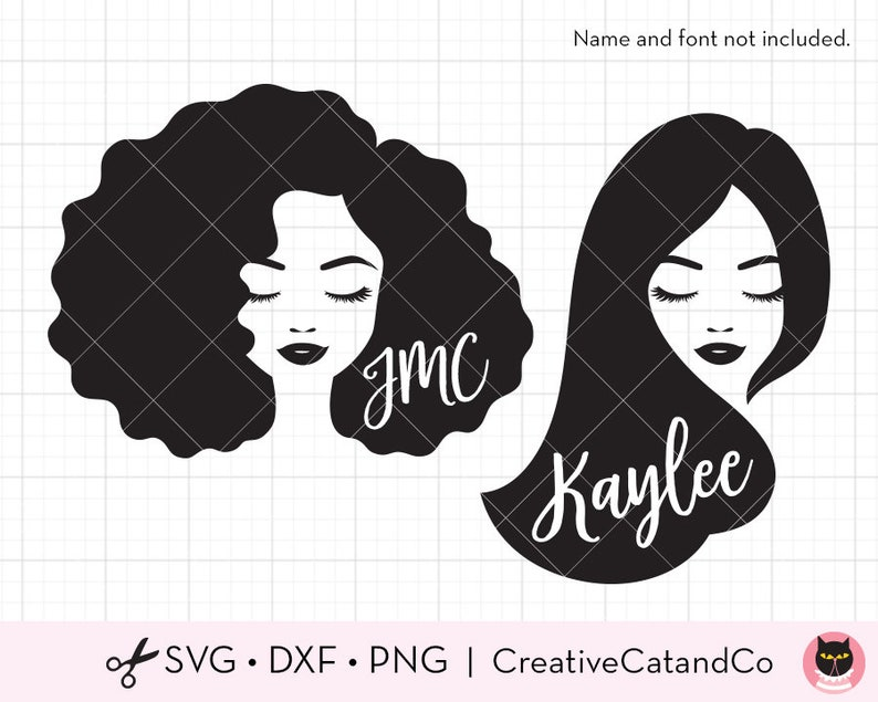 Black Woman Face Svg Dxf Black Woman Svg African American Etsy