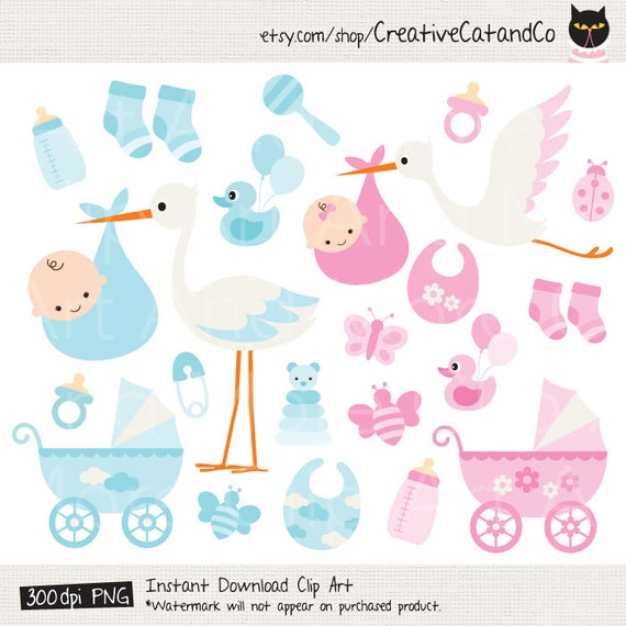 baby boy clipart baby girl clipart baby stork clipart baby etsy rh etsy com baby items clip art free images baby items clipart black and white
