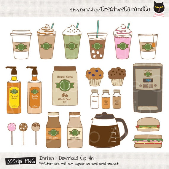 Coffee Clipart Clip Art Coffee Shop Bakery Cafe Clipart