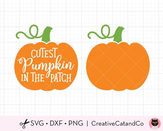 Pumpkin Svg Dxf Files For Cricut Silhouette Cute Pumpkin Patch Etsy