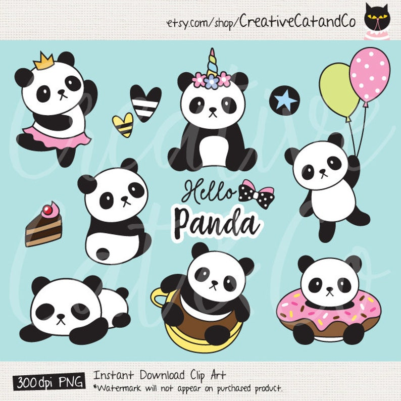 Panda Clipart Panda Clip Art Cute Panda Clipart Panda ...