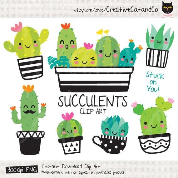succulent clipart cute cactus clipart cacti clip art cute etsy rh etsy com cactus clip art free cactus images clipart