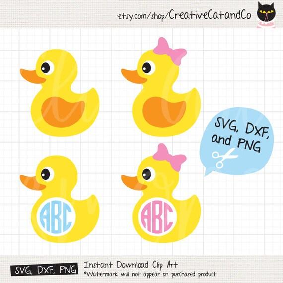 rubber duck svg monogram frame svg for cricut or silhouette etsy
