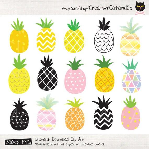 pineapple clipart pineapple clip art cute gold pineapple etsy rh etsy com pineapple clipart jpg pineapple clip art outline