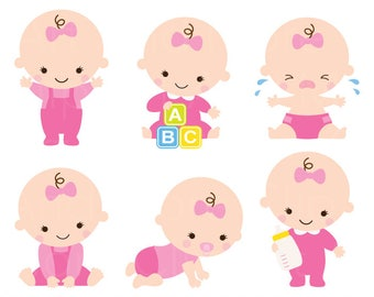 baby shower clipart clip art baby boy girl clipart cute baby rh etsy com baby girl clip art images free baby girl clipart pics