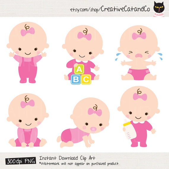 baby girl clipart baby girl clip art baby girl shower clipart rh etsy com baby girl clip art images pink baby girl clipart pictures