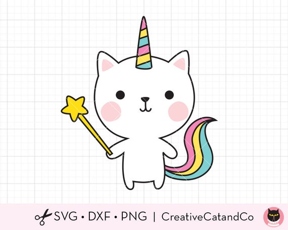 Download Cute Cat SVG Birthday Wish Unicorn Cat SVG DXF Files for ...