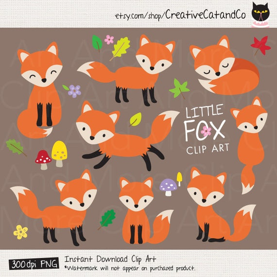 kleiner fuchs fuchs clipart baby fox clip art s fox. Black Bedroom Furniture Sets. Home Design Ideas