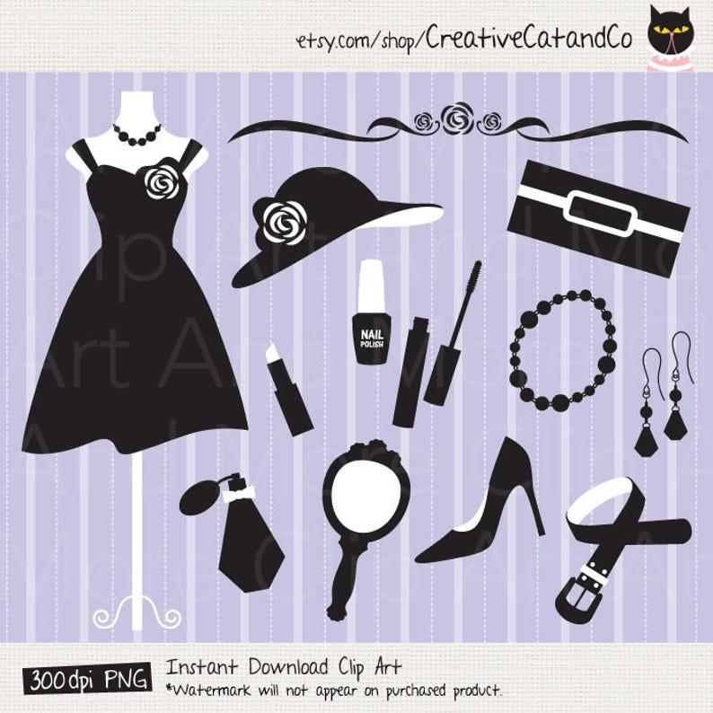 And WomenEtsy Black White Clipart Fashion 6IyfvY7bg