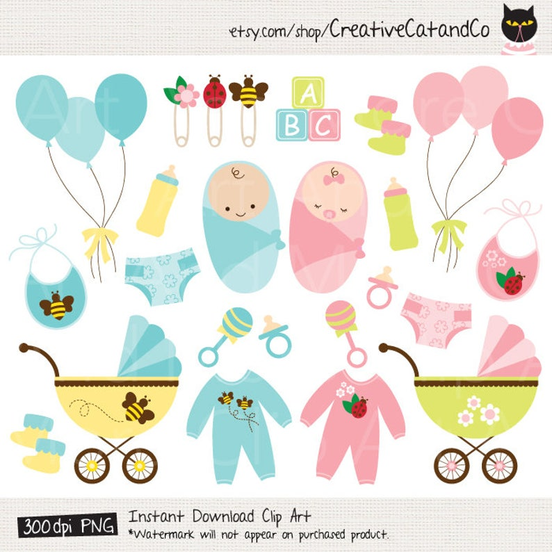 44202716bf12 Baby Clipart Clip Art Baby Shower Boy Girl Product Clipart