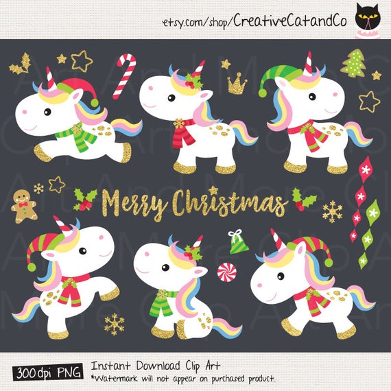 Christmas Unicorn.Christmas Unicorn Clipart Unicorn Christmas Clipart Cute Christmas Unicorn Clip Art Holidays Unicorn Christmas Animal Clipart Clip Art
