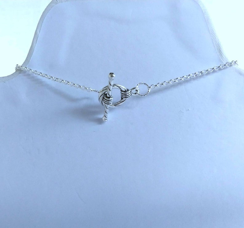 Dark Blue Glass Pearl with Rondelle Spacers on a Chain Minimalist WeddingProm Necklace