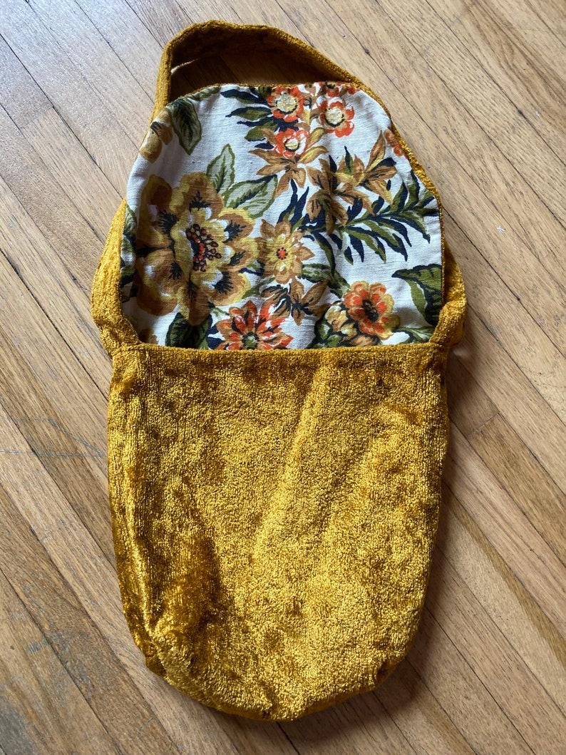 Vintage 60s Reversible Carpet Bag  Vintage Boho Tapestry Bag  Vintage 60s Carpet Purse  Vintage 60s Boho Tapestry Purse