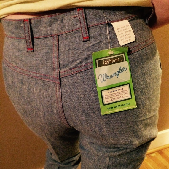 Vintage DEADSTOCK 1970s Wrangler Jeans / 70s Wrang