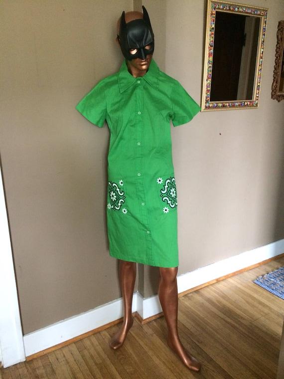 Vintage 70s Green Dress / 70s Green Dress / 1970s