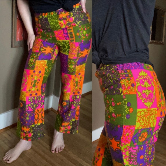 Vintage 60s Psychedelic Pants / Vintage 60s Groovy