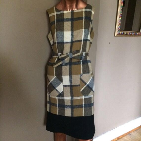 Vintage 50s Plaid Dress / Vintage Plaid Dress / Vi