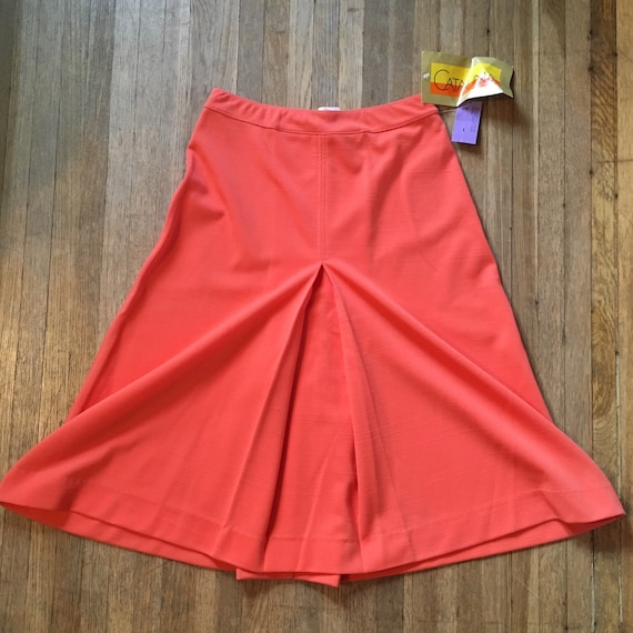 Vintage 70s Deadstock Salmon Catalina Skirt / Dead