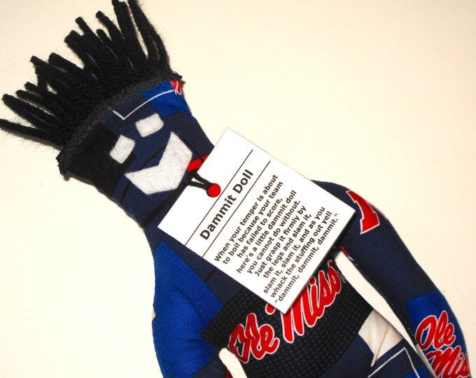Dammit Doll, Ole Miss, team fabric, stress relief item