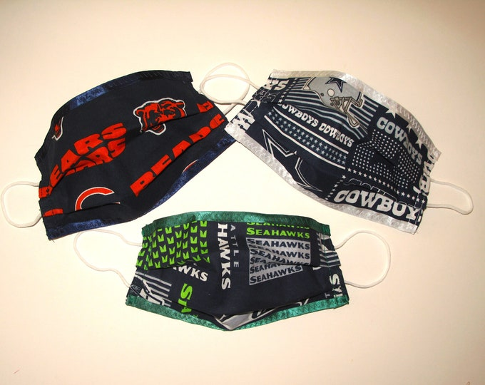 Football Team Fabric Face Covering (with elastic ear loops)