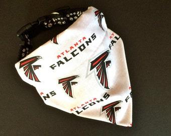 No-Tie, Slip Over Collar Dog Bandana, Atlanta Falcons (collar not included)