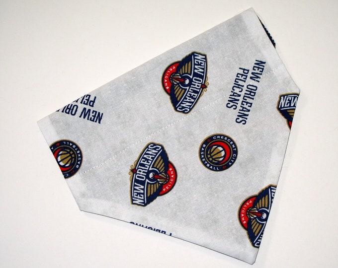 No-Tie, Slip Over Collar Dog Bandana, New Orleans Pelicans