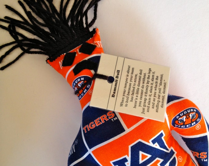 Dammit Doll, Auburn University, stress relief item, classic square team fabric