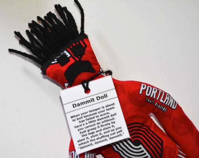 Dammit Doll, Portland Trailblazers, basketball stress relief item