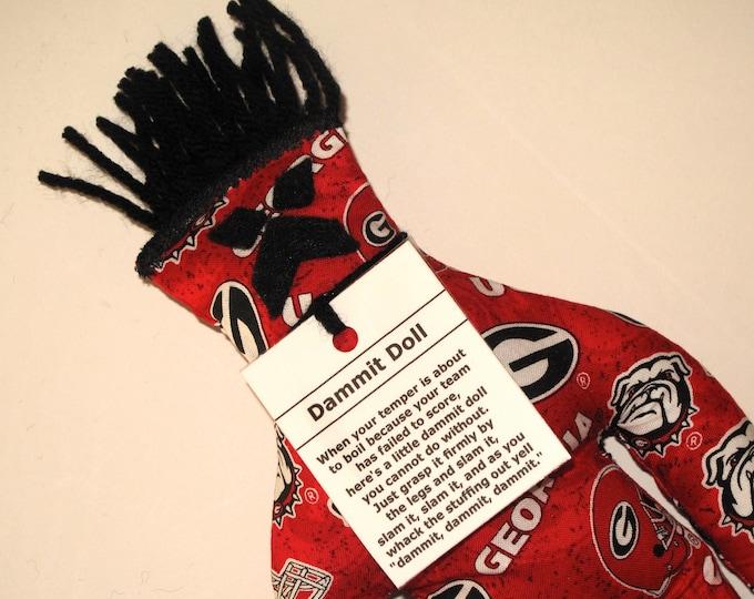 Dammit Doll, University of Georgia, Classic Square Fabric, stress relief item