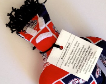 Dammit Doll, Gonzaga University, Classic Square Design Team Fabric, stress relief item