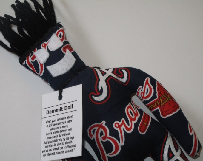 Dammit Doll, Atlanta Braves, baseball stress relief item