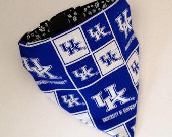 No-Tie, Slip Over Collar Dog Bandana, University of Kentucky