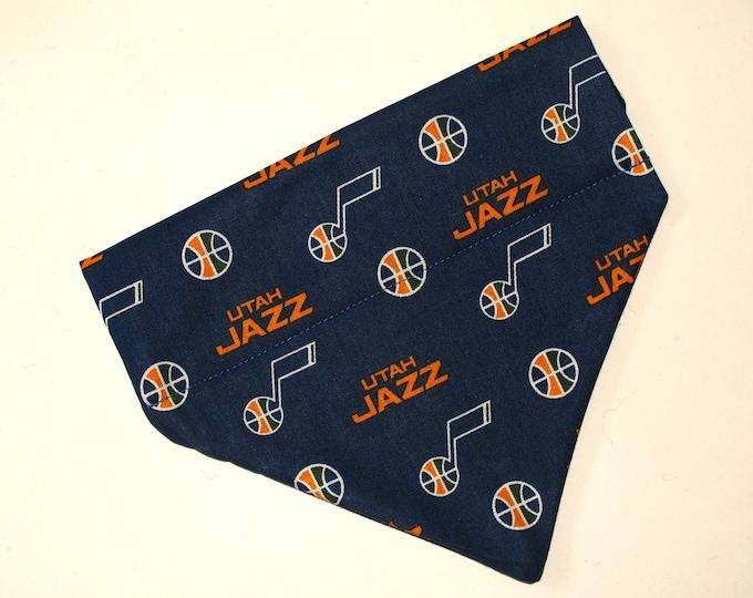 No-Tie, Slip Over Collar Pet Bandana, Utah Jazz (Collar Not Included)