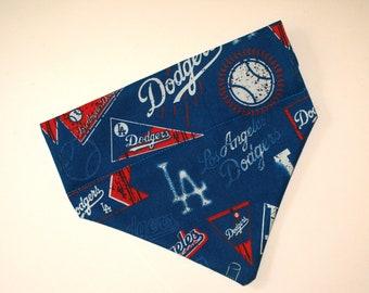 No-Tie, Slip Over Collar Pet Bandana, LA Dodgers (collar not included)
