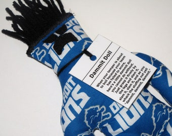 Dammit Doll, Detroit Lions, football stress relief item