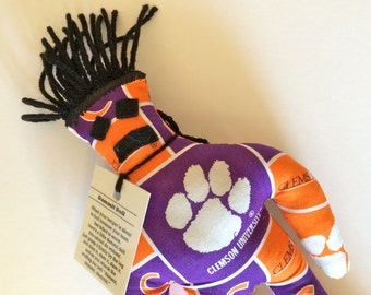 Dammit Doll, Clemson, Classic Square Fabric, stress relief item