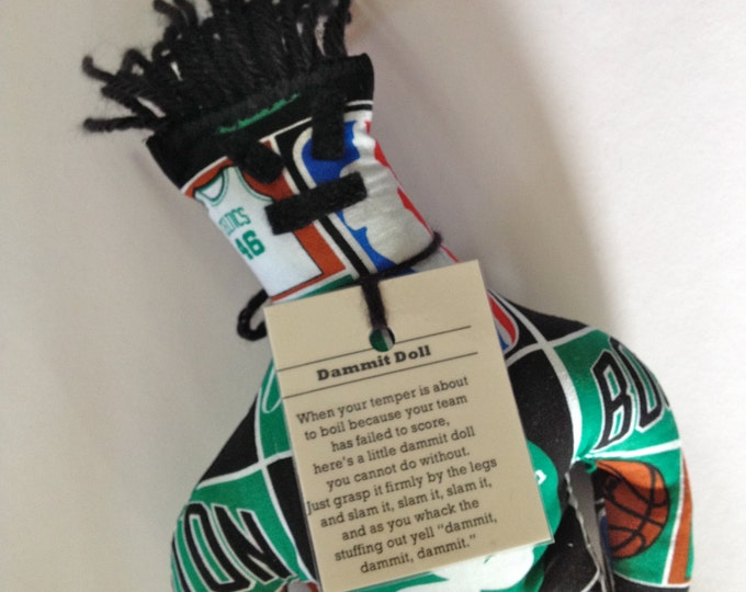 Dammit Doll, Boston Celtics, basketball stress relief item