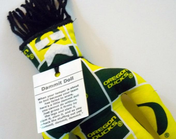 Dammit Doll, University of Oregon, Oregon Duck Fabric, stress relief item