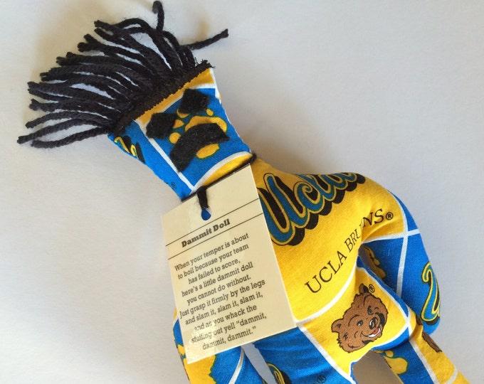 Dammit Doll, UCLA, Block Design Team Fabric, stress relief item