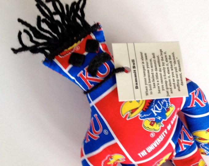 Dammit Doll, The University of Kansas, Classic Square Design Team Fabric, stress relief item