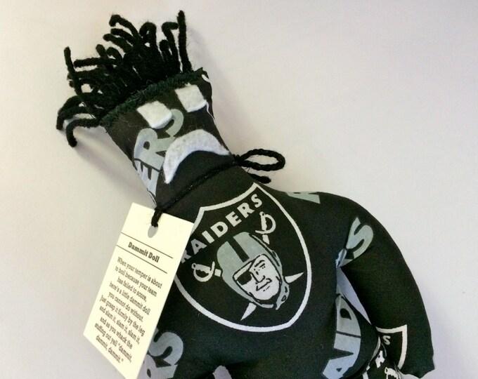 Dammit Doll, Raiders, football stress relief item