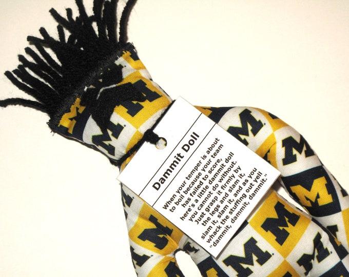 Dammit Doll, University of Michigan, Team Fabric, stress relief item