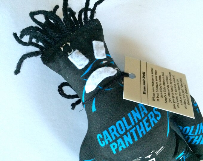 Dammit Doll, Carolina Panthers, football stress relief item