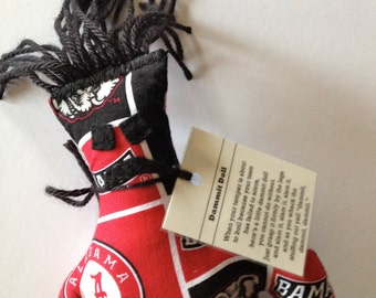 Dammit Doll, University of Alabama, Classic Square Fabric, stress relief item